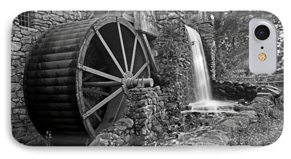 Wayside Inn Grist Mill Black And White IPhone Case