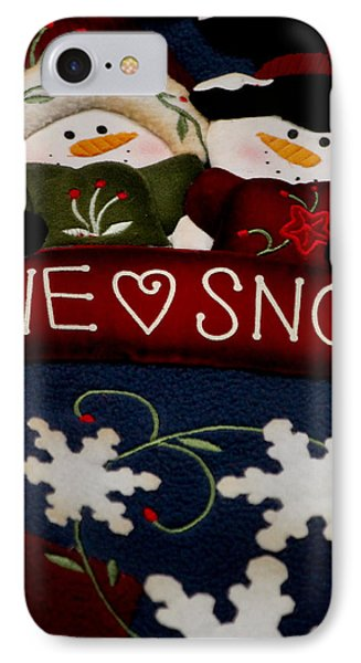 We Love Snow IPhone Case by Ivete Basso Photography