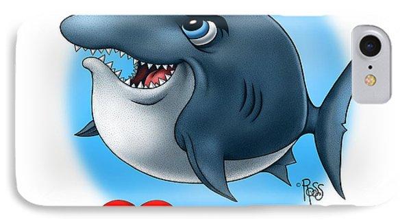 IPhone Case featuring the digital art We Love Tourists Shark by Scott Ross