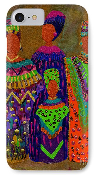 IPhone Case featuring the painting We Women 4 by Angela L Walker