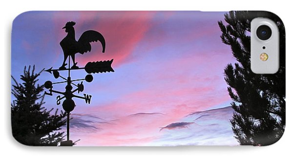 Weather Vane Sunset IPhone Case by Phyllis Kaltenbach