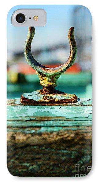 Weathered Boat Oar Lock Phone Case by Paul Ward