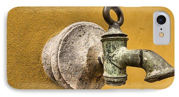 Weathered Brass Water Spigot IPhone Case