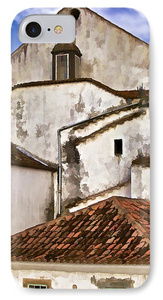 Weathered Buildings Of The Medieval Village Of Obidos Phone Case by David Letts