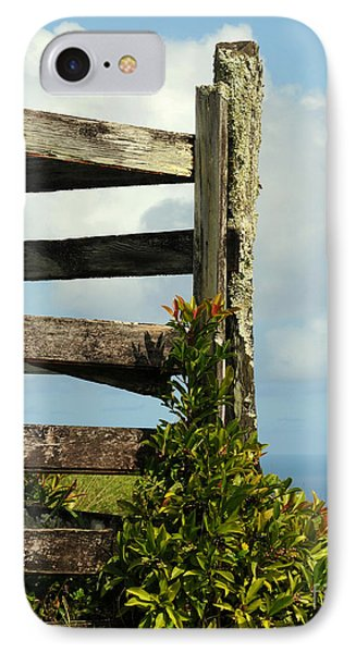 Weathered Fence Phone Case by Vivian Christopher