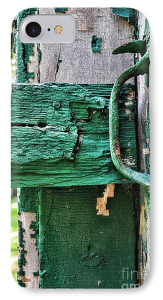 Weathered Green Paint Phone Case by Paul Ward