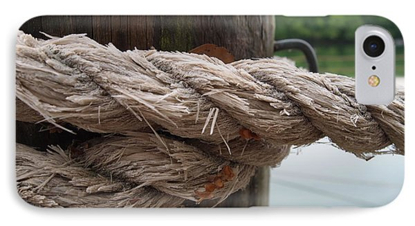 Weathered Ropes On The Dock IPhone Case by Deborah Fay