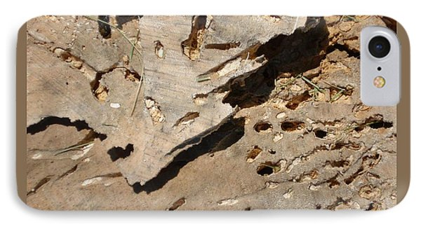 IPhone Case featuring the photograph Weathered Willow Wood-ii by Patricia Overmoyer