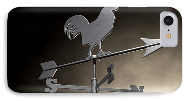 Weathervane Cockerel Isolated IPhone Case by Allan Swart