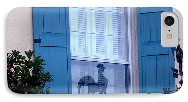 Charleston Weathervane Reflection IPhone Case by Kathy Barney