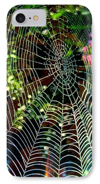 Web Of Entanglement Phone Case by Shirley Sirois