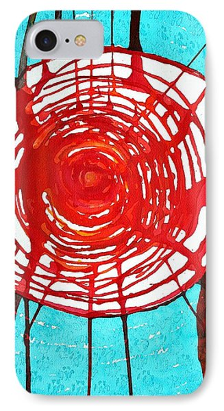 Web Of Life Original Painting Phone Case by Sol Luckman