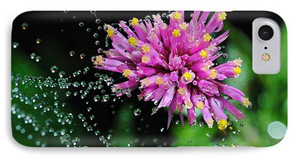 Webbed Water Droplets IPhone Case by Kelly Nowak