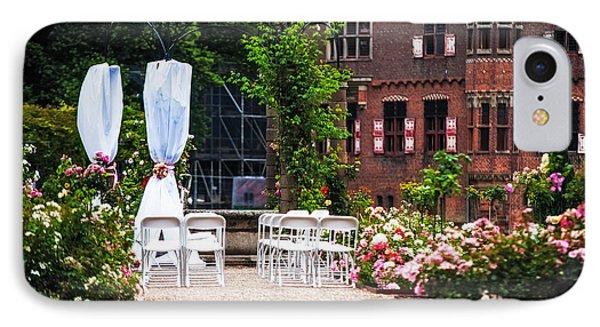 Wedding Arrangement In De Haar Castle. Utrecht  IPhone Case by Jenny Rainbow