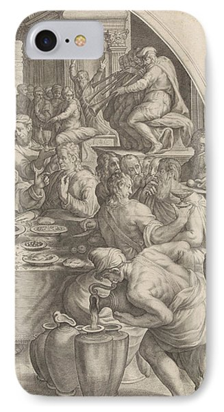 Wedding At Cana, Leaf Right, Print Maker Jacob Matham IPhone Case