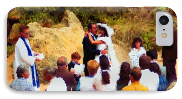 IPhone Case featuring the digital art Wedding At Loch Ard Gorge by Dennis Lundell