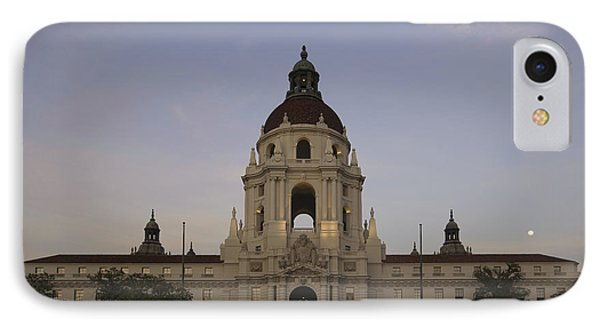 IPhone Case featuring the photograph Wedding At Moonrise - Pasadena City Hall California by Ram Vasudev