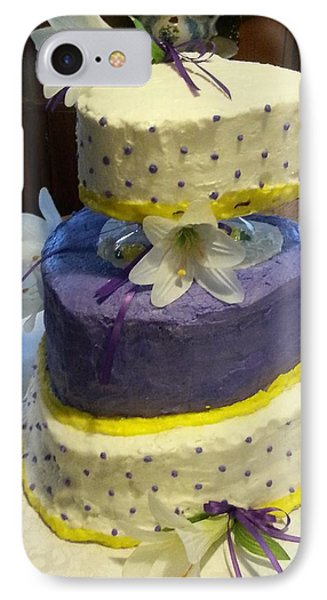 Wedding Cake For May IPhone Case by Fortunate Findings Shirley Dickerson