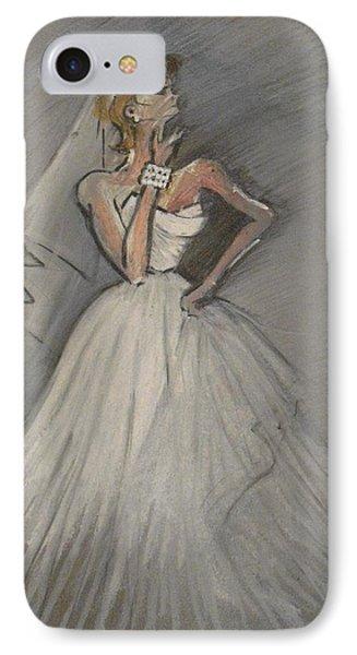 Wedding Dress IPhone Case by Michelle Deyna-Hayward
