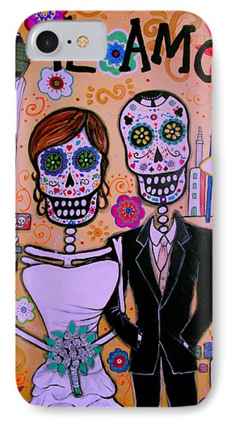 Wedding In Vegas Dia De Los Muertos IPhone Case by Pristine Cartera Turkus
