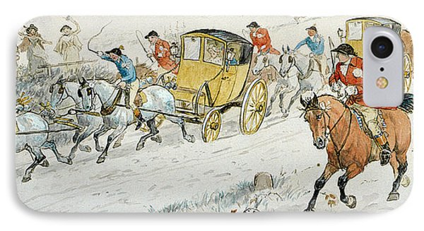 Wedding Procession Returning From Church IPhone Case by Randolph Caldecott