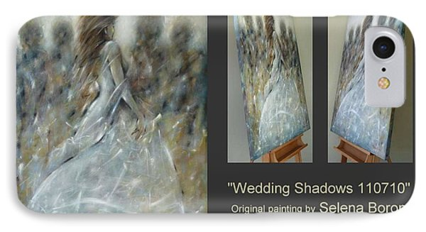 IPhone Case featuring the painting Wedding Shadows 110710 by Selena Boron