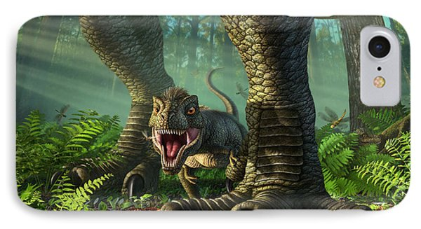 Wee Rex IPhone Case by Jerry LoFaro