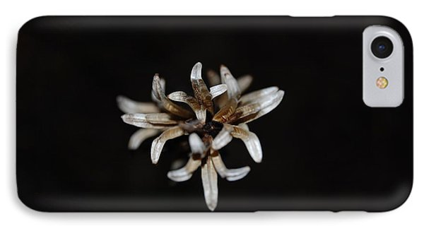 Weed On Black IPhone Case by Mim White