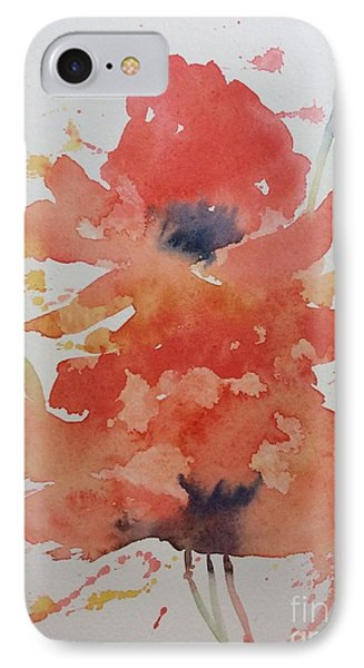 Weekend Poppies IPhone Case by Barbara Tibbets