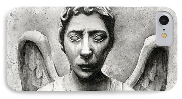 Weeping Angel Don't Blink Doctor Who Fan Art Phone Case by Olga Shvartsur