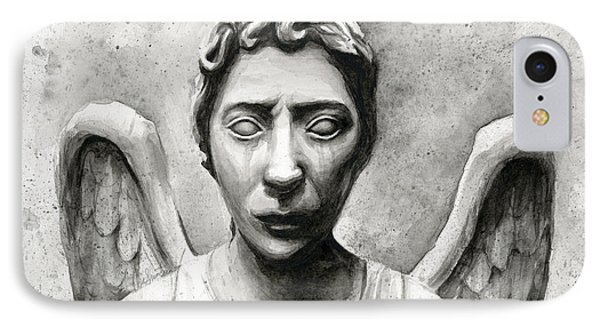 Weeping Angel Don't Blink Doctor Who Fan Art IPhone Case
