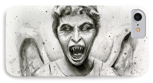 Weeping Angel Watercolor - Don't Blink IPhone Case