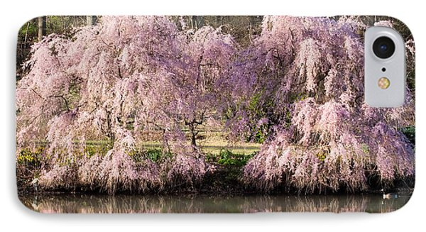 Weeping Cherry Trees Phone Case by Jack Nevitt