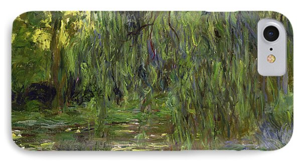 Weeping Willows The Waterlily Pond At Giverny IPhone Case by Claude Monet