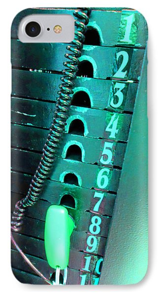 Weight Stack Teal IPhone Case