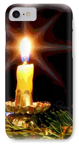 IPhone Case featuring the photograph Weihnachtskerze - Christmas Candle by Ludwig Keck