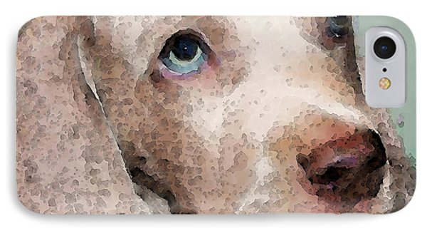 Weimaraner Dog Art - Forgive Me IPhone Case by Sharon Cummings