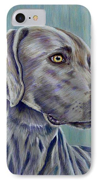 Weimaraner Grey Ghost IPhone Case by Michelle Wrighton