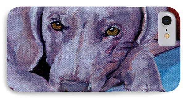 Weimaraner IPhone Case by Pattie Wall