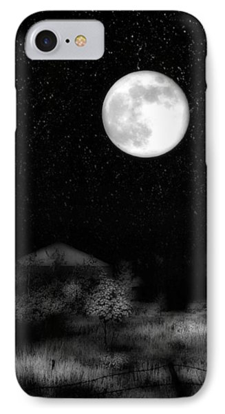 The Brilliant Full Moon Lit The Night Sky IPhone Case by Gothicrow Images