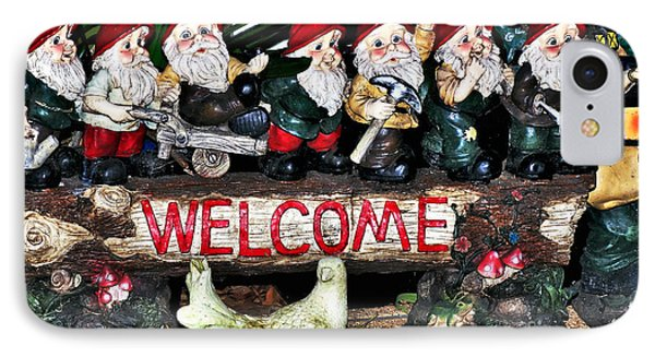 Welcome From The Seven Dwarfs Phone Case by Kaye Menner