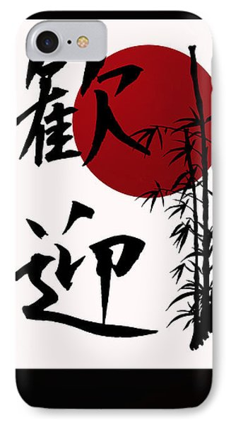 Welcome In Kanji Script IPhone Case