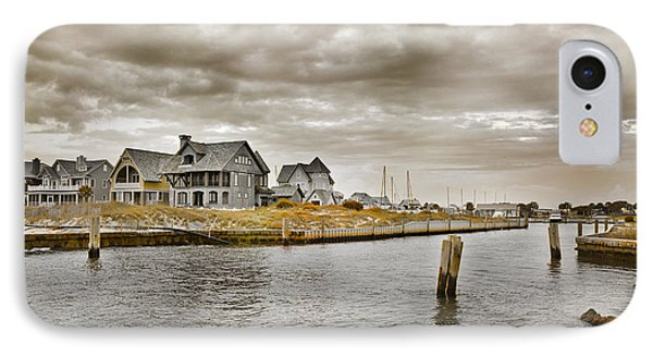 Welcome To Bald Head Island IPhone Case by Betsy Knapp