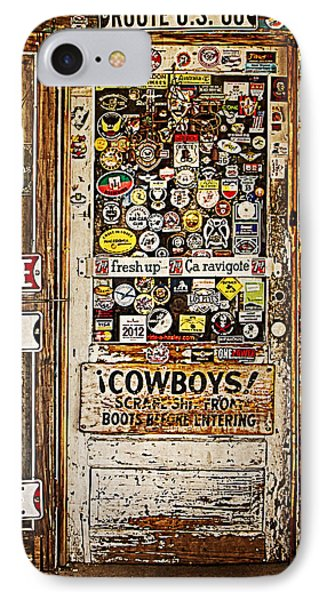 Welcome To Hackberry General Store Phone Case by Priscilla Burgers