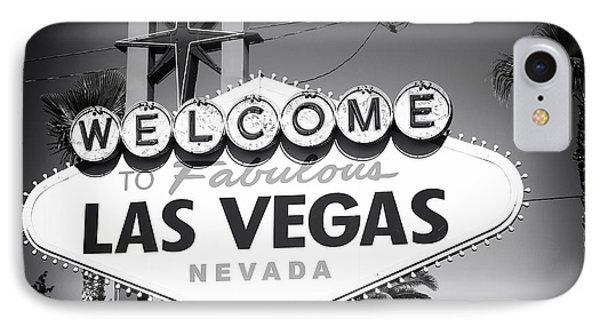Welcome To Las Vegas Noir Phone Case by John Rizzuto