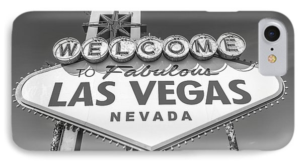 Welcome To Las Vegas Sign Black And White IPhone Case by Aloha Art