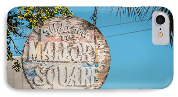 Welcome To Mallory Square Key West 2  - Hdr Style Phone Case by Ian Monk
