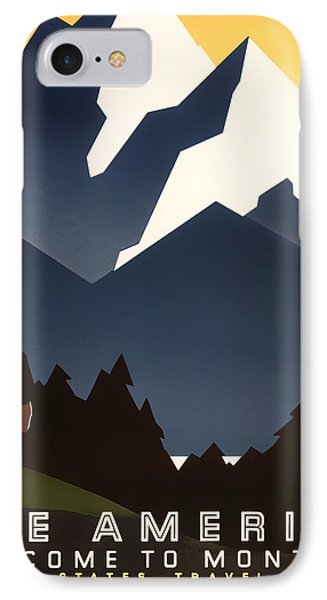 Welcome To Montana IPhone Case by Mountain Dreams