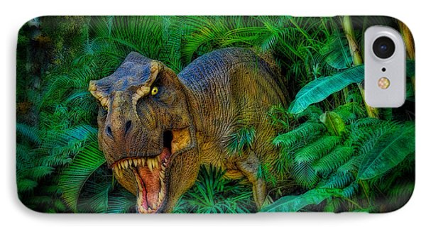 Welcome To My Park Tyrannosaurus Rex IPhone Case by Olga Hamilton