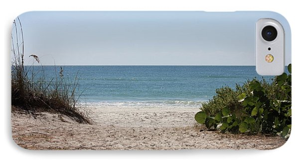 Welcome To The Beach IPhone Case by Carol Groenen